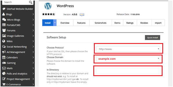 Install WordPress from cPanel in shared hosting bangladesh